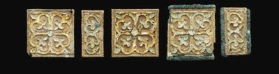 A Group of Five Glass-Inlaid G
