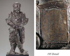 A Rare Dated Late Ming Massive Bronze Figure of a Bodhisattv