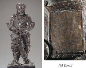 A Rare Dated Late Ming Massive Bronze Figure of a Bodhisattv