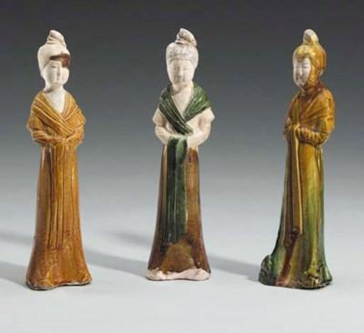 A Group of Three Sancai-Glazed
