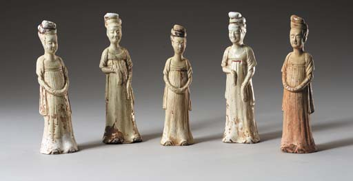 A Group of Five Straw-Glazed P
