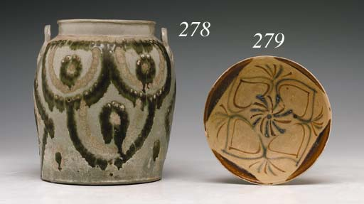 A Painted Grey Stoneware Chang
