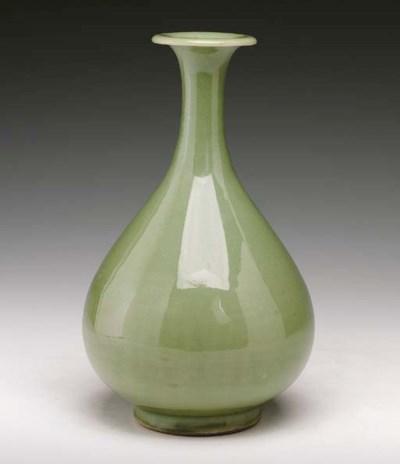 An Unusual Celadon Vase, Yuhuc