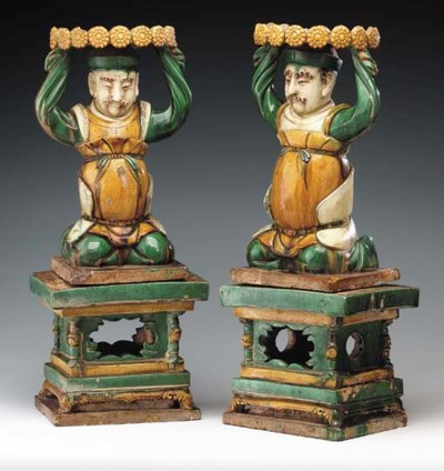An Unusual Pair of Glazed Tile