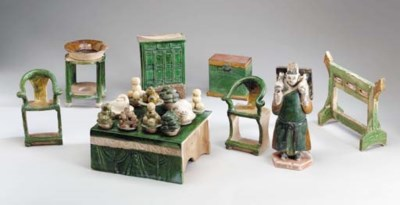 A Group of Glazed Tileworks Mo