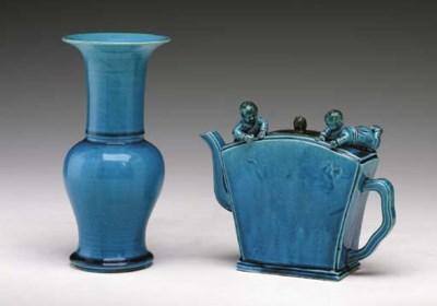 A Rare Turquoise-Glazed Wine P