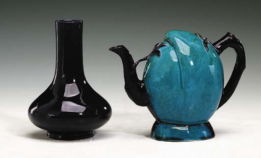 A Turquoise and Aubergine-Glaz