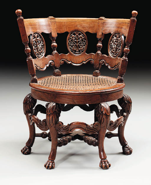 A DUTCH COLONIAL TEAKWOOD 'BUR
