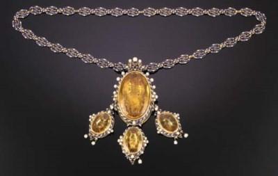 A gemset gold and enamel Panag