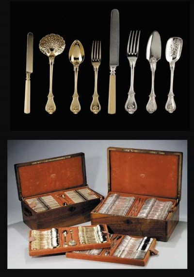 AN EXTENSIVE FRENCH SILVER AND