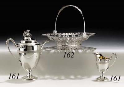 A GERMAN SILVER COFFEE POT AND