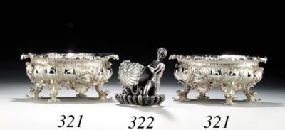 A PAIR OF GEORGE V SILVER BOWL