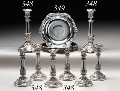 A SUITE OF EIGHT GEORGE IV SIL