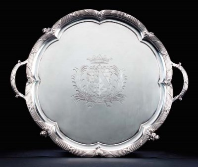 A WILLIAM IV SILVER TEA TRAY