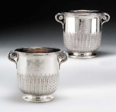 A FINE PAIR OF GEORGE III SILV
