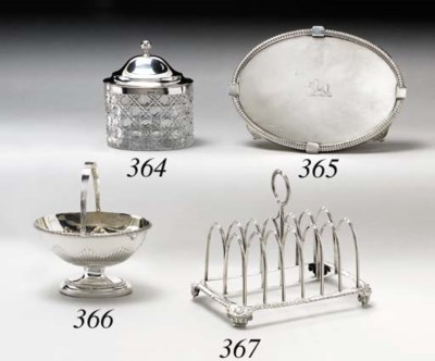 A GEORGE III SILVER STAND
