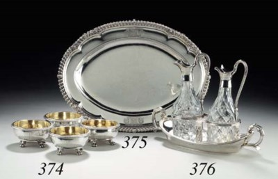 A GEORGE IV SILVER OIL-AND-VIN