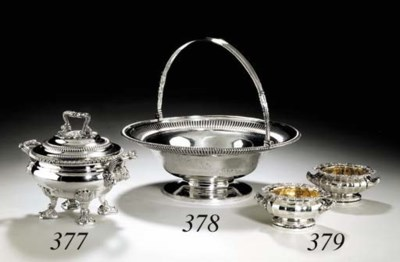 A PAIR OF REGENCY SILVER SALT