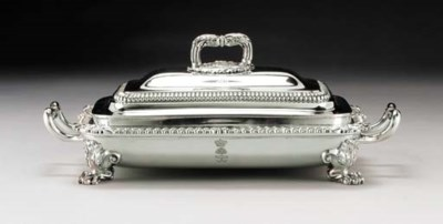 A FINE REGENCY SILVER COVERED