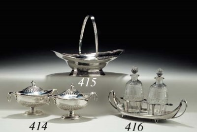 A GEORGE III SILVER DECANTER S