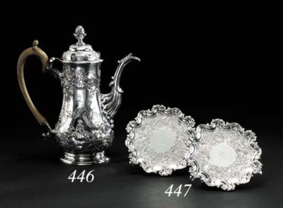 A GEORGE III IRISH SILVER COFF