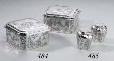 A PAIR OF CHARLES II SILVER TO
