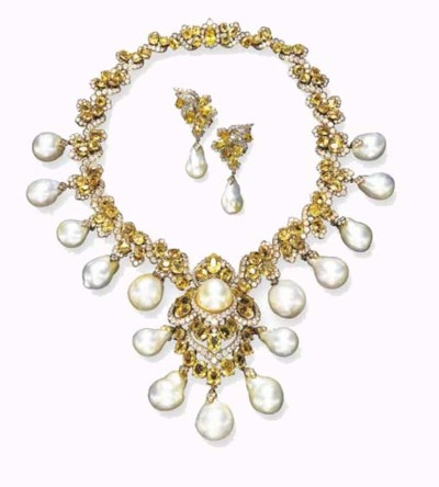 A BAROQUE CULTURED PEARL, YELL