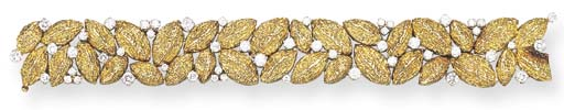 AN 18K GOLD AND DIAMOND BRACELET, BY VAN CLEEF & ARPELS
