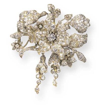 AN ELEGANT ANTIQUE DIAMOND SPR