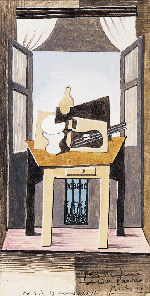pablo picasso 1881 1973 nature morte devant une fen tre christie 39 s. Black Bedroom Furniture Sets. Home Design Ideas