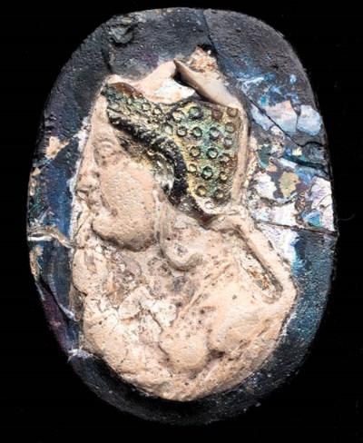 AN EGYPTIAN GLASS CAMEO