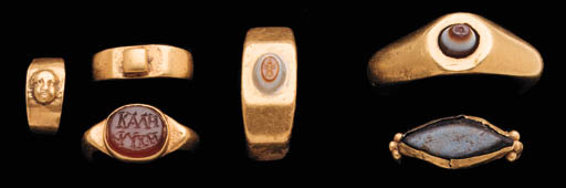 SIX ROMAN GOLD RINGS