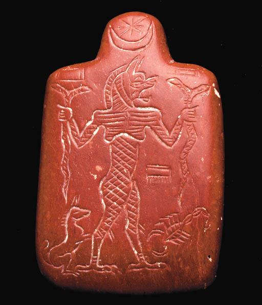 A NEO-ASSYRIAN RED JASPER PAZU