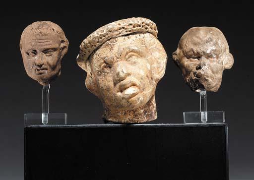 THREE EGYPTIAN TERRACOTTA GROT