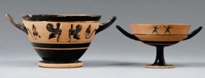 TWO ATTIC BLACK-FIGURED CUPS