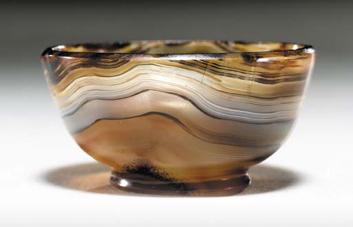 A GREEK BANDED AGATE BOWL
