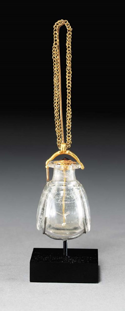 A GREEK ROCK CRYSTAL FLASK