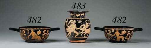 TWO APULIAN RED-FIGURED CUP-SK
