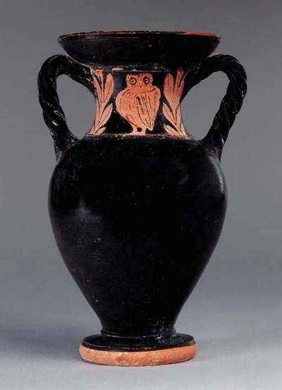 A GREEK RED-FIGURED AMPHORA