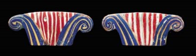 TWO EGYPTIAN GLASS INLAYS