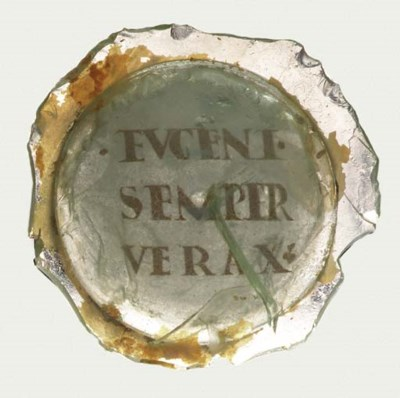 A ROMAN INSCRIBED GOLD-GLASS V