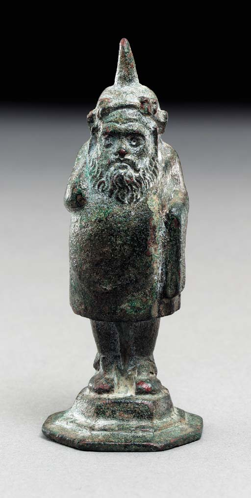 A ROMAN BRONZE FINIAL IN THE F