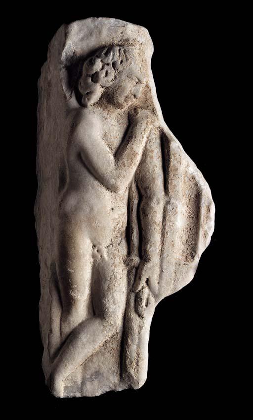 A ROMAN MARBLE FRAGMENT