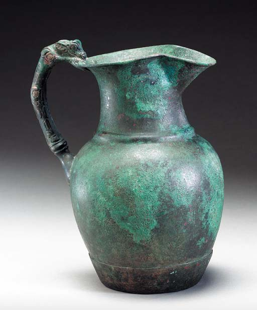 AN ACHAEMENID BRONZE PITCHER