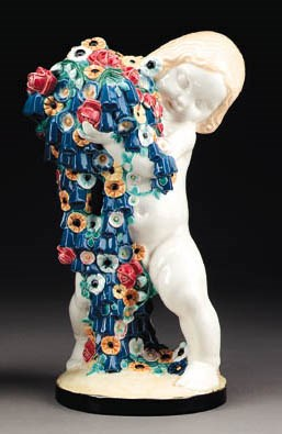 'SPRING', AN EARTHENWARE FIGUR