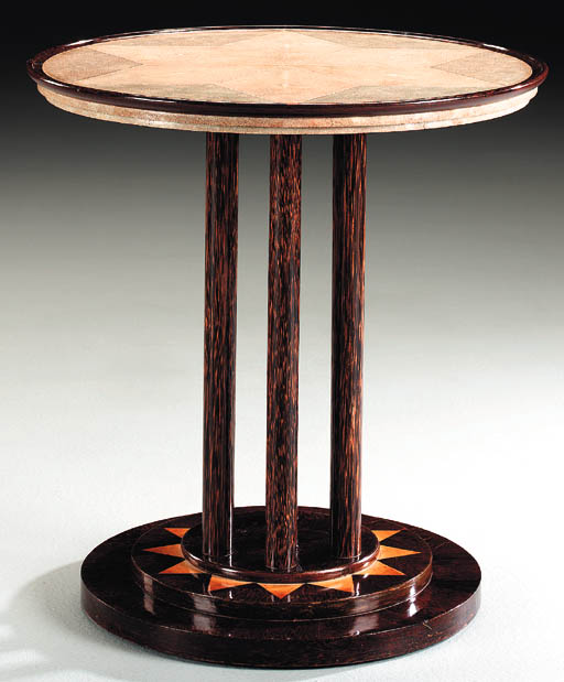 A PALMIER, GALUCHAT AND IVORY INLAID TABLE**