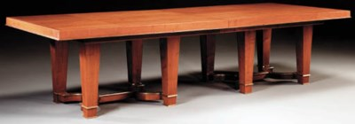 A LARGE MAHOGANY TABLE