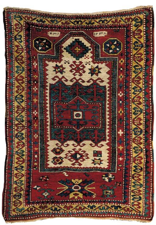 A KAZAK PRAYER RUG