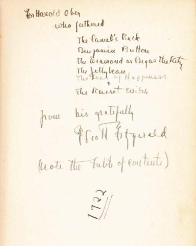 FITZGERALD, F. Scott. Tales of