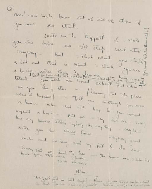 HEMINGWAY, Ernest. Autograph l